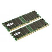 Crucial CT2CP25672Y335 Mémoire RAM 4GB kit (2GBx2) DDR PC2700 Registered ECC
