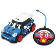 Go Mini 18242 - Macchinina da corsa radiocomandata RC Wolf, colore: Blu