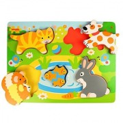 Bigjigs Toys BJ328 Chunky Lift Out Pets Puzzle