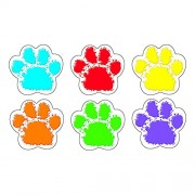 Tendencia Enterprises Inc. T-10982 Paw Prints Classic Accents Variety Pack