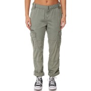 Rusty Army Cotton Multiple Pocket Zip Fly Snap Womens Cargo Pants