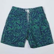 Trunks Surf & Swim Artistic Floral Print Boardie Boardshorts Beachwear Navy/Green TS002P