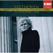 Sir Simon Rattle - Beethoven Symphonies 7 & 8 (0094637638323) (1 CD)