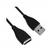 EW Cable de carga USB Cable Cable Para Fitbit SURGE inalámbrica pulsera de la pulseraNegro