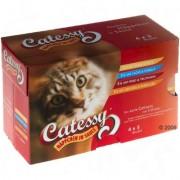 40 + 8 zdarma! 48 x 100 g Míchané balení Catessy kousky - 48 x 100g se 4 druhy