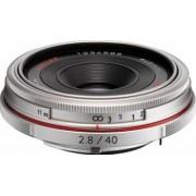 Obiectiv Foto Pentax-Ricoh 40mm f2.8 DA HD Limited Silver