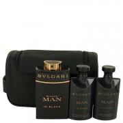 Bvlgari Man In Black Eau De Parfum Spray + After Shave Balm + Shower Gel + Free Pouch Gift Set Men's Fragrances 537618