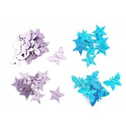 Eshoppee designer jewelery making material butterfly and stars design , 900 - 1000 pcs approx