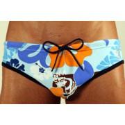 Timoteo Super Low Floral Swimwear Light Blue SMC1123QLT