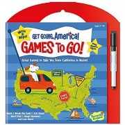 Peaceable Kingdom Get Going America Write and Wipe Games To Go! Activity Book