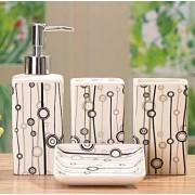 Set de baie cu patru recipiente din ceramica