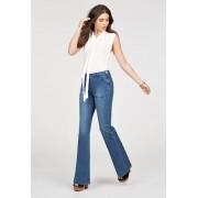 JustFab Jeans évasés High Rise Patch Pocket Jeans évasés Femme Couleur Bleu Taille 29 JustFab