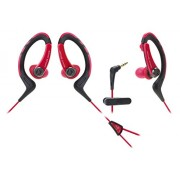 audio technica sonic sports waterproof ath-sports1 red/black