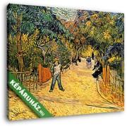 Vincent Van Gogh: Az Arles-i park bejárata (1888) (30x25 cm, Vászonkép )