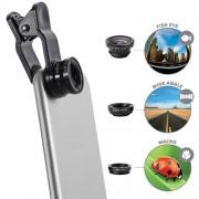 Camera Sport & Outdoor Kit Lentile Macro, Wide Field, Fish Eye Negru Celly