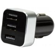 Incarcator Auto Logilink PA0107, 3x USB, 3.1A, Display (Negru)