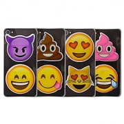 Emoji Puffy Sticker Set: Devil Smile Poo Heart Eyes Cat and More: 8 Total Stickers