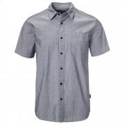 Patagonia Fezzman Shirt Herren Gr. M - grau blau / scorpo dobby navy blue - Casual Hemden