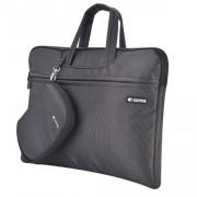 Comma Dexter MacBook Bag - качествена чанта с дръжки за преносими компютри до 13.3 инча (черен)