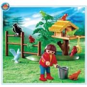 Playmobil - 4203 - La Vie À La Ferme - Enfant + Oiseaux + Nid