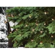 Kültéri fényfüzér 20 db izzó Gyertyafény dekor 8m KIC 20K