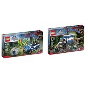 Jurassic World Lego Bundle Of 2 Sets: Dilophosaurus Ambush 75916 And Raptor Rampage 75917 Building Kits