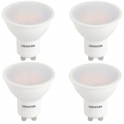 Set 4 Spoturi Led GU10, 6W, 220V lumina calda DLF 3060