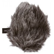 """Movo WS-G2 Furry Outdoor Microphone Windscreen Muff for Medium Microphones up to 3"""" X 80mm (L x D) - Fits the Rode Videomic Pro VMP and More (Dark Gray)"""