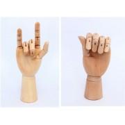 Ideal para True Heart modelo de madera de la mano de la mujer modelos izquierda y derecha conjunto 25cm / maniqui dibujo boceto pintura del arte aula de arte! Tzak-43