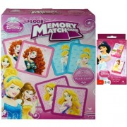 Disney Princess Holiday Game Gift Set for Kids - 1 Princess Floor Memory Match Game (54 Memory Match Cards) Plus 1 (2) Pack Card Games (Go Fish & Old Maid) - Best Stocking Stuffers for Girls or Kids and Best Holiday or Christmas Gifts for Kids by TopValue