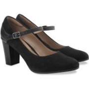 Clarks Bavette Cathy Black Combi Sde Slip On shoes(Black)