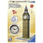 "Ravensburger 12511 - Puzzle in 3D, motivo ""Big Ben con orologio"", 216 pezzi"