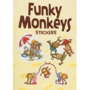 Funky Monkeys Stickers by Yu-Mei Han