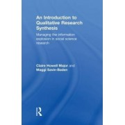 An Introduction to Qualitative Research Synthesis by Claire Howell Major