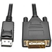 Tripp Lite DisplayPort to DVI Active Cable Adapter DP 1.2 with Latches DP to DVI (M/M) DP2DVI 1080p 6 ft. (P581-006-V2)