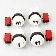 Jiu Man 4x Happ Tpye One Two Three Four Player Start Push Buttons With Micro Switch For Arcade Joystick PC Games Jamma Mame