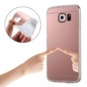 Electroplating Mirror TPU Protective Case for Samsung Galaxy Note 5 / N920(Pink)