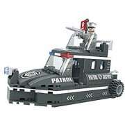 Ausini City Patrol Boat Rescue Squad 133pc Building Blocks Educational Set Compatible to Lego Parts - Best Gift for Boys