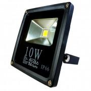 Fényvető / reflektor LED 10W, SLIM, IP66, fekete, 4000K-white