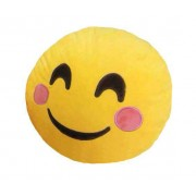 Soft Smiley Emoticon Yellow Round Cushion Pillow Stuffed Plush Toy Doll (Cheeky)