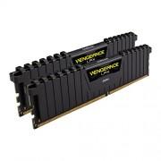 Corsair CMK32GX4M2A2133C13 Vengeance LPX Kit di Memoria RAM da 32 GB, 2x16 GB, DDR4, 2133 MHz, CL13, Nero
