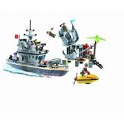Joc tip Lego Fort si Nava de Razboi cu Racheta si 7 Soldati 819