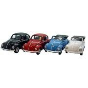 Original Welly Models de Volkswagen escarabajo con retráctil Motor y öffenbaren puertas, aprox. 12 cm longitud
