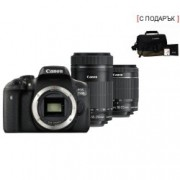 DSLR EOS 750D Double Kit 18- 55mm + 55-250mm Black + комплект Canon AC0033X090