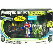 Transformers 3 Dark of the Moon Exclusive Cyberverse Legion Class Action Figure Playset Battle In The Moonlight Optimus Prime Autobot Ratchet vs Crankcase