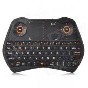 RII RT-MWK28 raton de aire 2.4GHz + audio chat + teclado w / 6-Axis gyro / touchpad para caja de TV