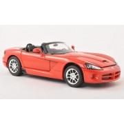Dodge Viper SRT-10, rojo , 2003, Modelo de Auto, modello completo, Welly 1:24