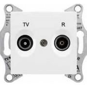 SEDNA TV-R aljzat átmenő 4 db IP20 Fehér SDN3301821 - Schneider Electric