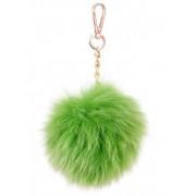 Зелен помпон висулка