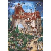 D-Giocattoli Cartoon Collection Dracula Castle Jigsaw Puzzle (1000 Pezzi)